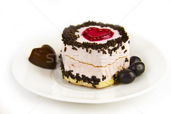 торт блюдце чай продовольствие шоколадом Кубок Сток-фото © yura_fx