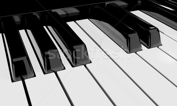 Pianotoetsen muziekinstrument 3D muziek toetsenbord Stockfoto © yura_fx