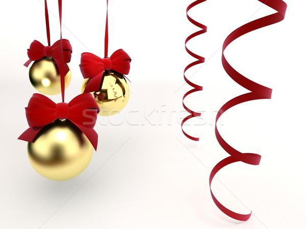 Karácsony játékok terv üveg piros fehér Stock fotó © yura_fx
