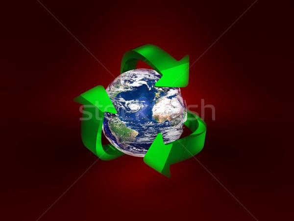 Foto stock: Globo · terra · azul · cor · planeta · limpeza