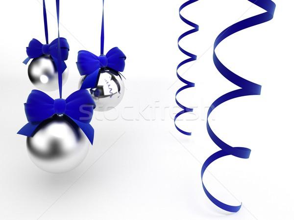 Karácsony játékok terv üveg fehér szalag Stock fotó © yura_fx