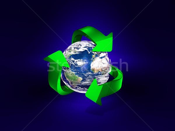 Dünya toprak mavi renk gezegen temizlik Stok fotoğraf © yura_fx