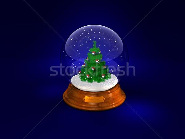 Karácsony üveg labda jelenet hó háttér Stock fotó © yura_fx