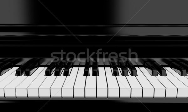 клавиши пианино музыкальный инструмент 3D музыку клавиатура Сток-фото © yura_fx