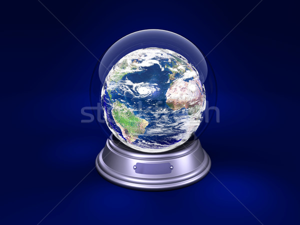 earth is in a glass ball Stock photo © yura_fx