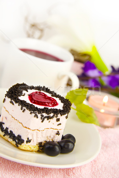 cake on the saucer Stock photo © yura_fx