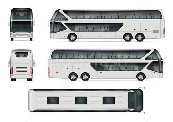旅行 バス ベクトル テンプレート 孤立した ストックフォト © YuriSchmidt