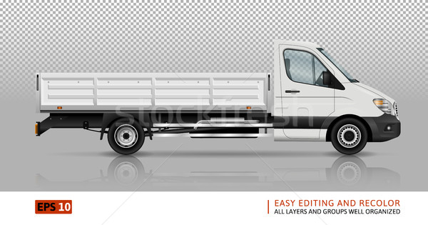 Flatbed truck template Stock photo © YuriSchmidt