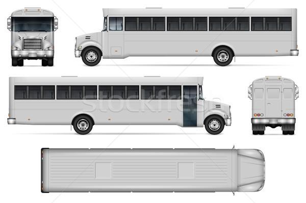 Realistic correction bus vector illustration Stock photo © YuriSchmidt