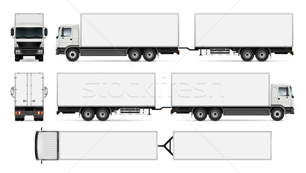 Isolated trailer truck Stock photo © YuriSchmidt