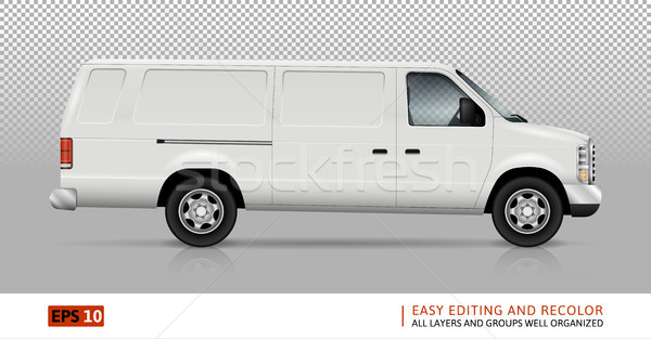 Panel Van Vector Template Stock photo © YuriSchmidt