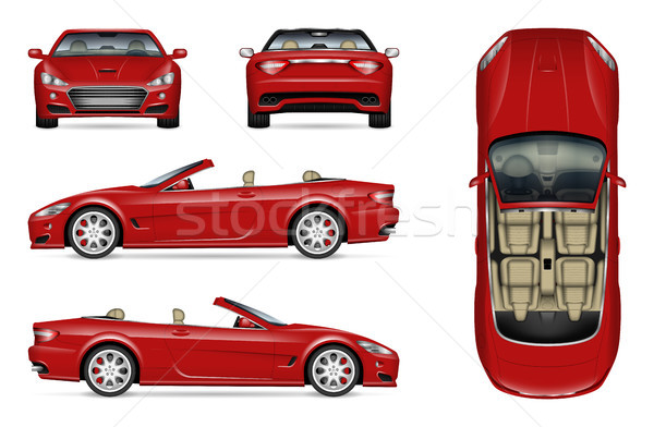 Realistic convertible car Stock photo © YuriSchmidt