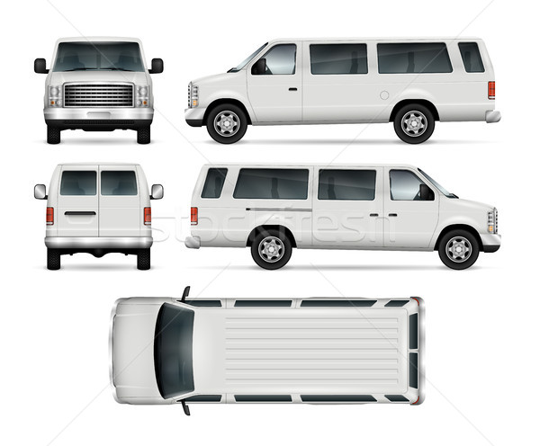 Mini Bus Vector Template Stock photo © YuriSchmidt