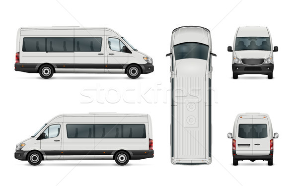 Passenger van template Stock photo © YuriSchmidt