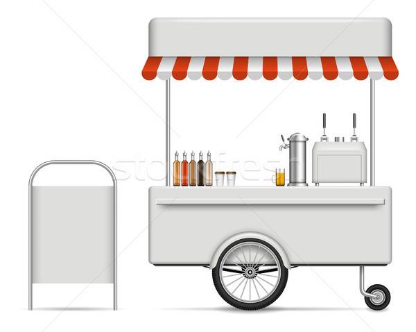 Food cart vector illustration Stock photo © YuriSchmidt