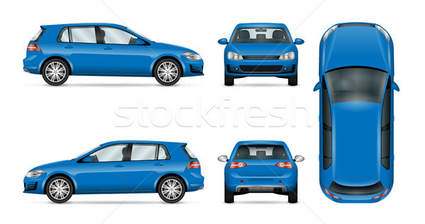 Blue car vector template Stock photo © YuriSchmidt