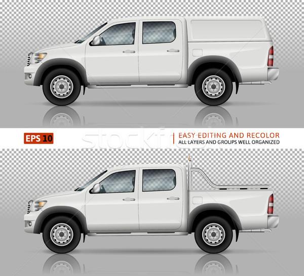 Pickup truck vector mock-up Stock photo © YuriSchmidt