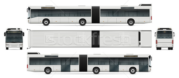 Bus vector reclame corporate identiteit Stockfoto © YuriSchmidt