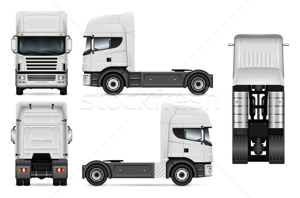 Tractor truck vector illustration Stock photo © YuriSchmidt