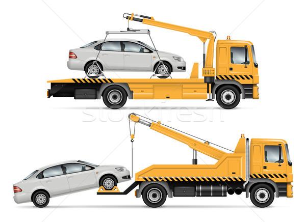 Tow truck vector illustration Stock photo © YuriSchmidt