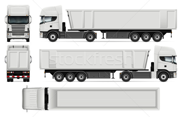 Dump Truck Vector Template Stock photo © YuriSchmidt