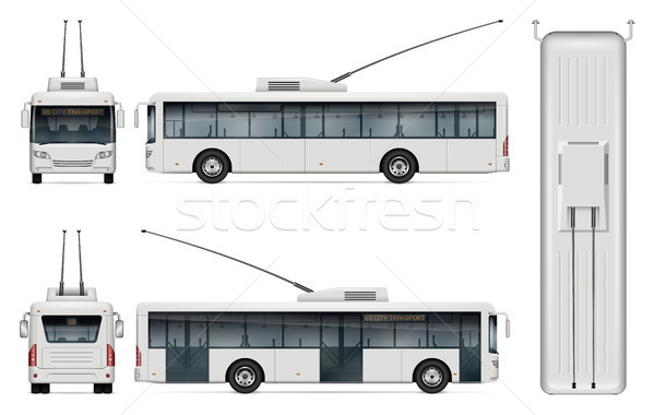 Trolleybus vector template Stock photo © YuriSchmidt