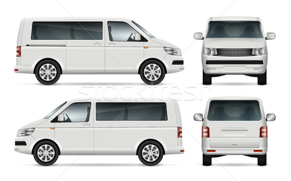 Minibus vector template Stock photo © YuriSchmidt