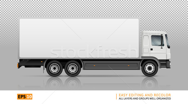 Isolated truck on transparent background Stock photo © YuriSchmidt