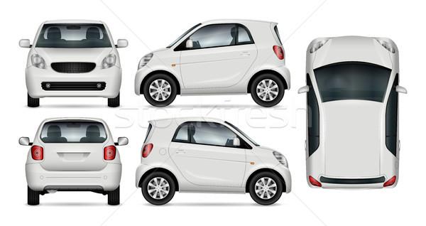 Pequeno carro vetor compacto para cima Foto stock © YuriSchmidt