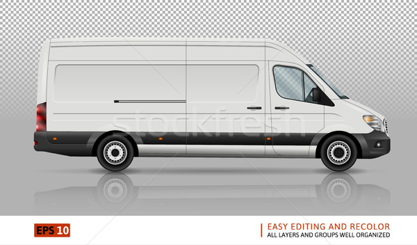 Van vector template Stock photo © YuriSchmidt