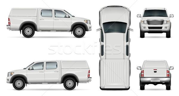 Vector pickup truck on white background Stock photo © YuriSchmidt