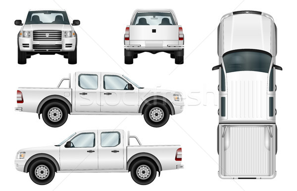 Vetor caminhão branco modelo isolado carro Foto stock © YuriSchmidt