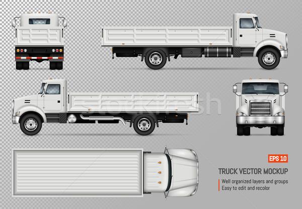 トラック ベクトル テンプレート 孤立した 白 ストックフォト © YuriSchmidt