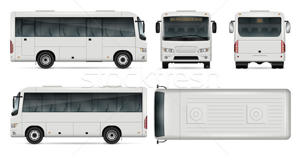 Mini bus vector illustration Stock photo © YuriSchmidt