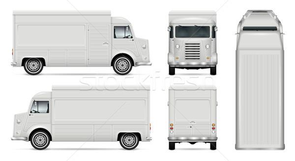 Retro Food Truck Vector Template Stock photo © YuriSchmidt