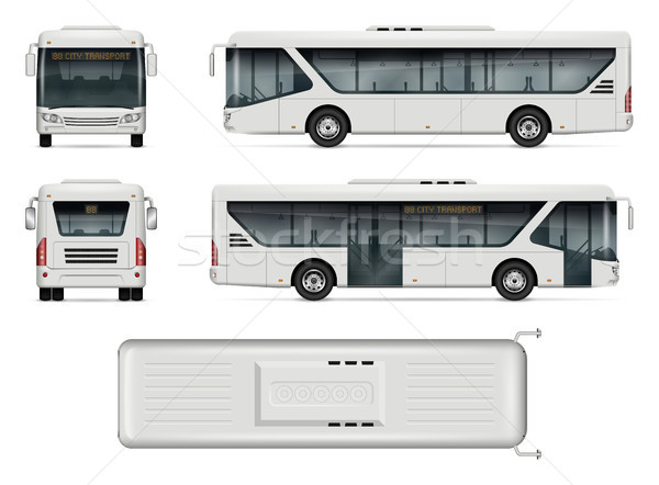 City bus vector mockup Stock photo © YuriSchmidt