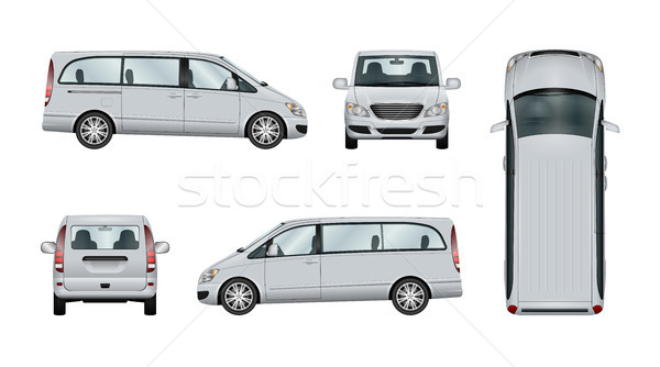 Minivan vector template Stock photo © YuriSchmidt