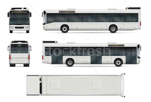 City bus vector template Stock photo © YuriSchmidt