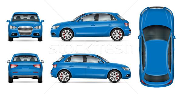 Niebieski suv samochodu w górę wektora branding Zdjęcia stock © YuriSchmidt