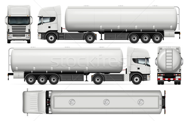 Tanker truck vector template. Stock photo © YuriSchmidt
