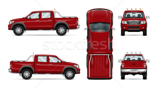 Red pickup truck Stock photo © YuriSchmidt