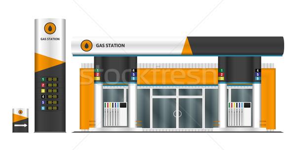Stacji benzynowej elementy grup oddzielny warstwy Zdjęcia stock © YuriSchmidt