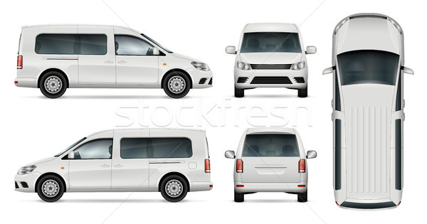 White car vector illustration Stock photo © YuriSchmidt