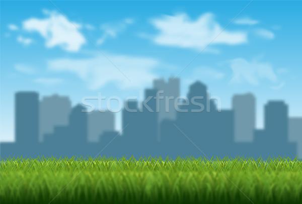 Zamazany miasta wektora bokeh efekt niebo Zdjęcia stock © YuriSchmidt