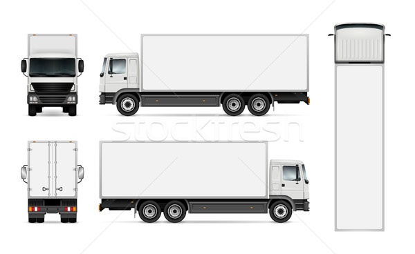 Isolated truck on white background Stock photo © YuriSchmidt