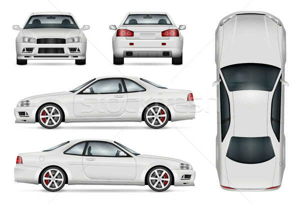 Sports car vector illustration Stock photo © YuriSchmidt