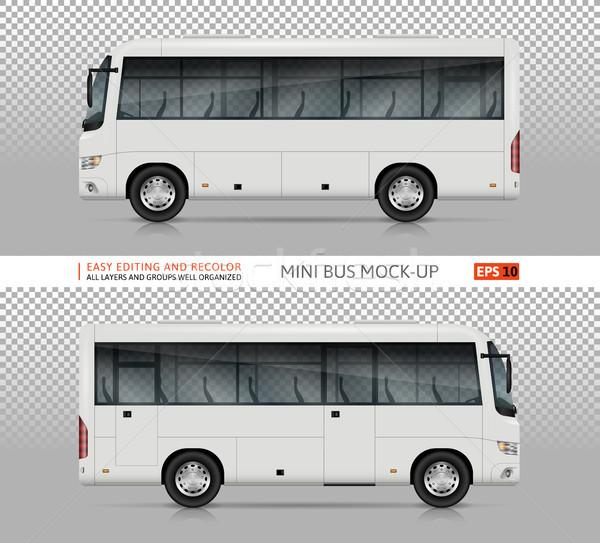 Mini autobus wektora szablon odizolowany Zdjęcia stock © YuriSchmidt