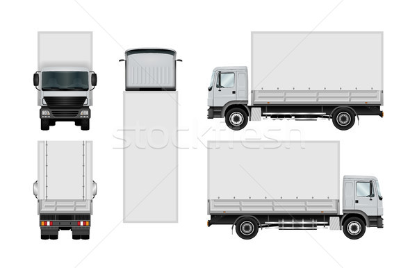 Truck vector template. Stock photo © YuriSchmidt