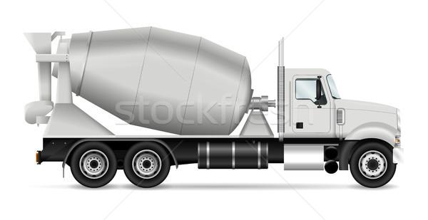 смеситель грузовика мнение сторона шаблон корпоративного Сток-фото © YuriSchmidt