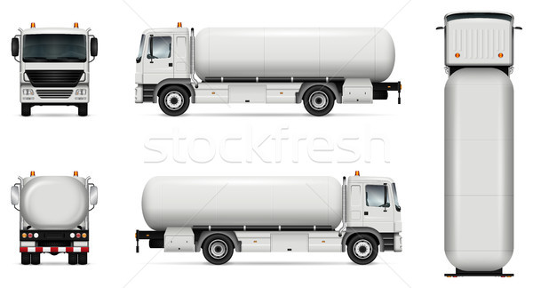 Tanker truck vector mockup Stock photo © YuriSchmidt